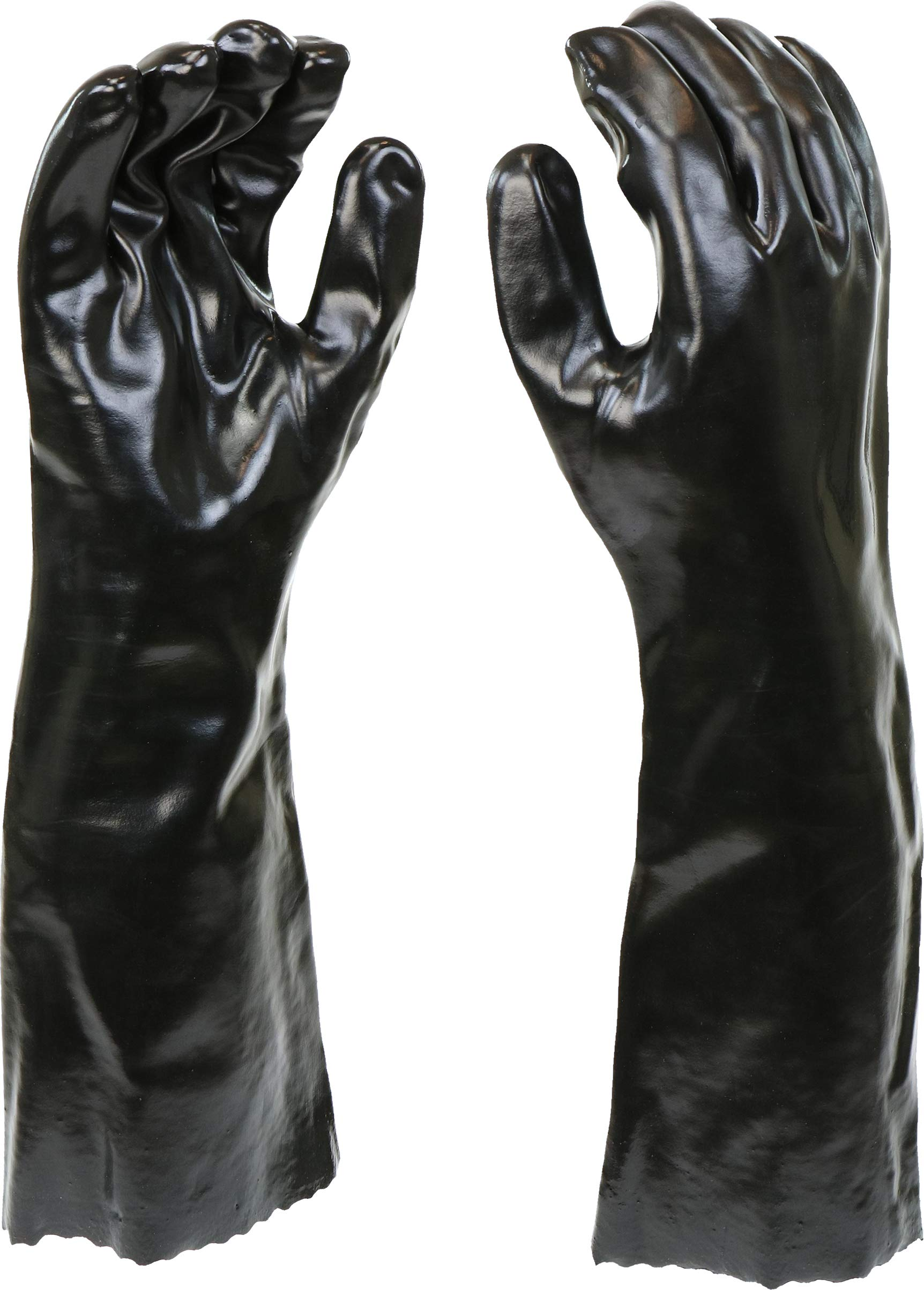 West Chester 12018 Chemical Resistant PVC Coated Work Gloves: 18'' Length, One Size Fits Most, 3 Pairs