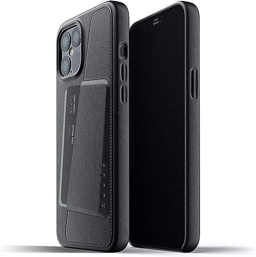 color negro Funda de piel sint/ética para iPhone 12 Magsafe