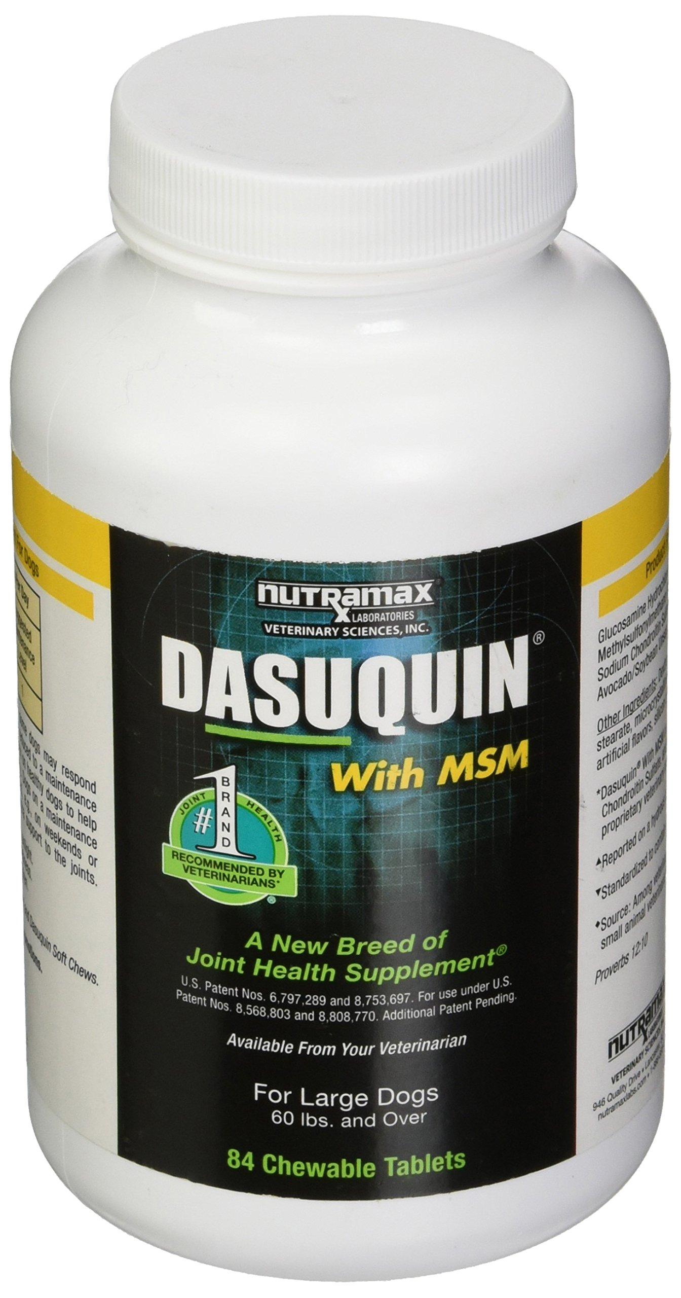 Nutramax Laboratories Dasuquin MSM Chewable Tablets for Large Dogs 84ct by Nutramax Laboratories