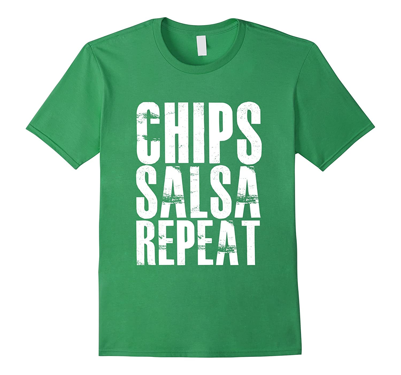 Chips Salsa Repeat T-Shirt-FL