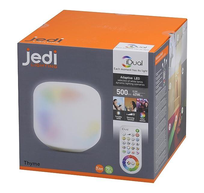 500lmPlastiqueIntégré8 Jedi 563041313 WArgent Thyme Table Lampe SpzVUM