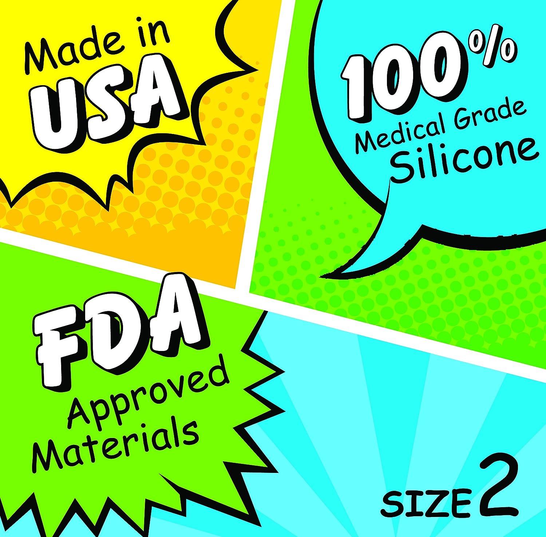 Super Jennie - Taza menstrual, fabricada en Estados Unidos, paquete doble, Large, Azul, 2