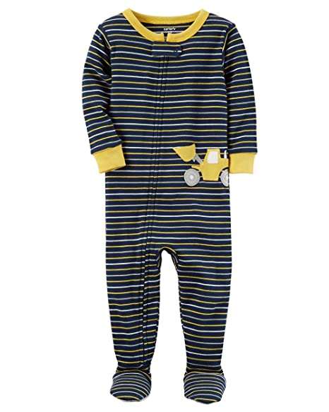 f15699c20 Amazon.com  Carter s Boys 1 Piece Cotton Snug-Fit Footed Pajamas ...