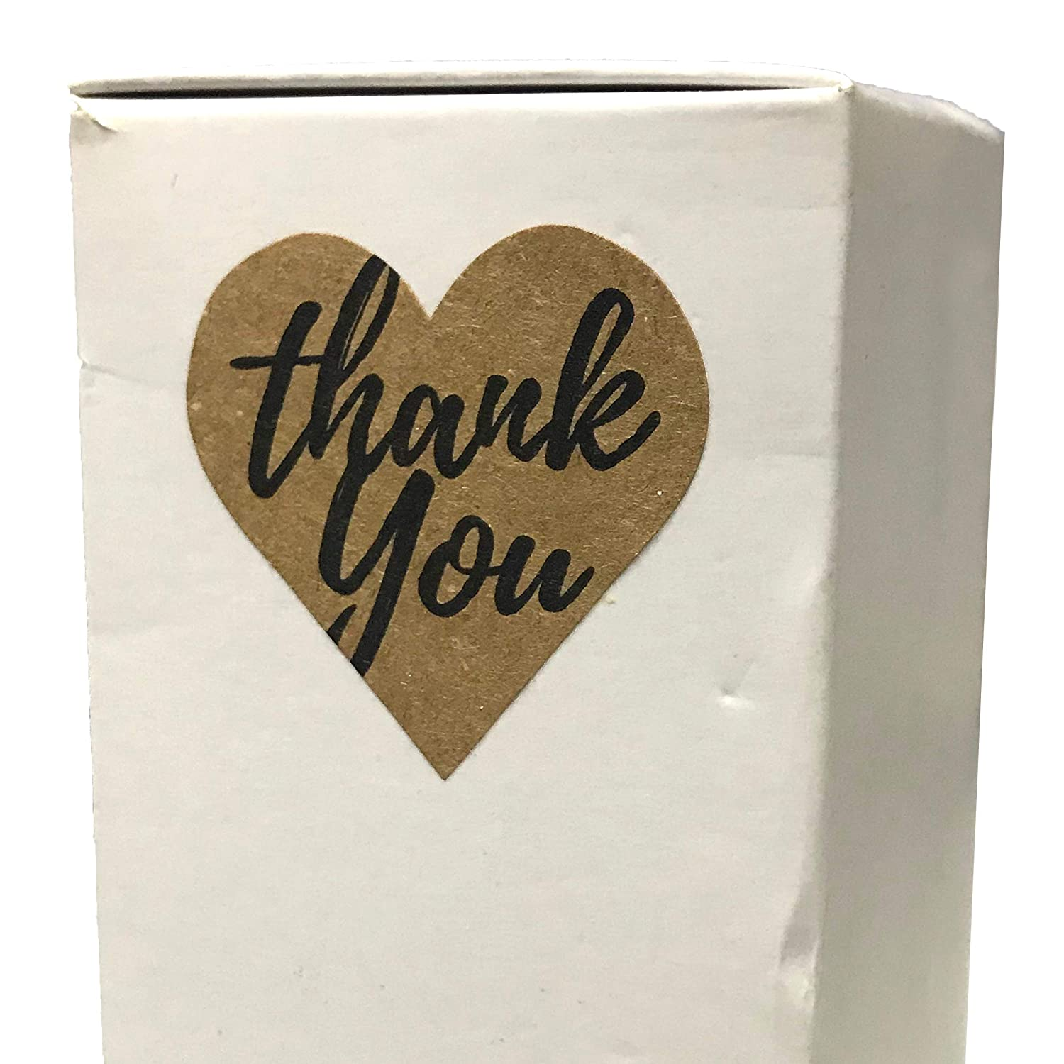 Pack of 200 1.5 Gold Embossed Kraft Thank You Stickers
