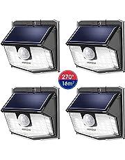 【Nouveau 30 LED】 Mpow Lampes Solaires Extérieur 270° Eclairage Extérieur Etanche IP65, Mode de détecteur de Mouvement Batterie Puissante Spots Solaires pour Jardin, Garage, Chemin, Escalier, Patio etc