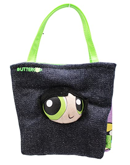 4601c6312ad Image Unavailable. Image not available for. Color: Powerpuff Girls  Buttercup Children's Small Denim Play Handbag