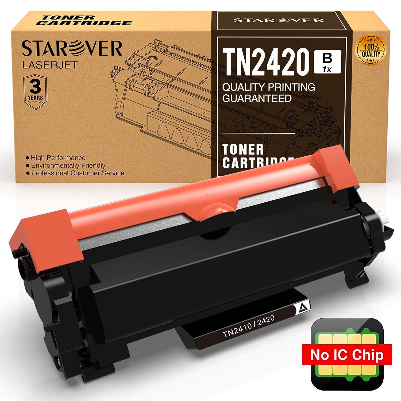 STAROVER 1x TN-2420 TN-2410 / TN2420 TN2410 (Senza chip) Cartuccia Del Toner Nero Sostituire Per Stampante Brother HL-L2375DW DCP-L2550DW MFC-L2715DW MFC-L2750DW MFC-L2710DN HL-L2386DW HL-L2385DW HL-2370DW HL-L2350DW, 3000 pagine/Cartuccia Del Toner