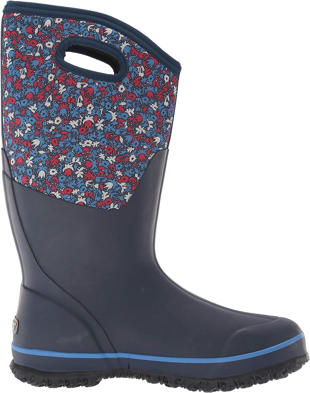Bogs Bottes de pluie imperméables pour femme Imprimé Fleur de Rousseur Bleu Multicolore