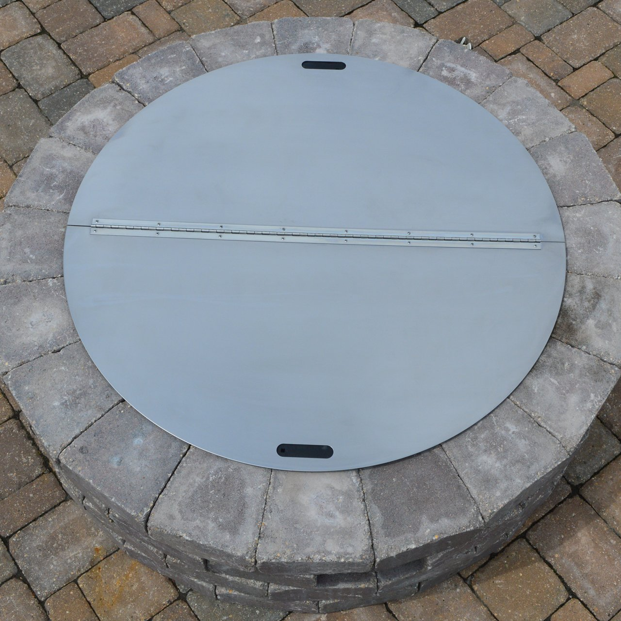 40'' Round Stainless Steel Fire Pit Snuffer Cover