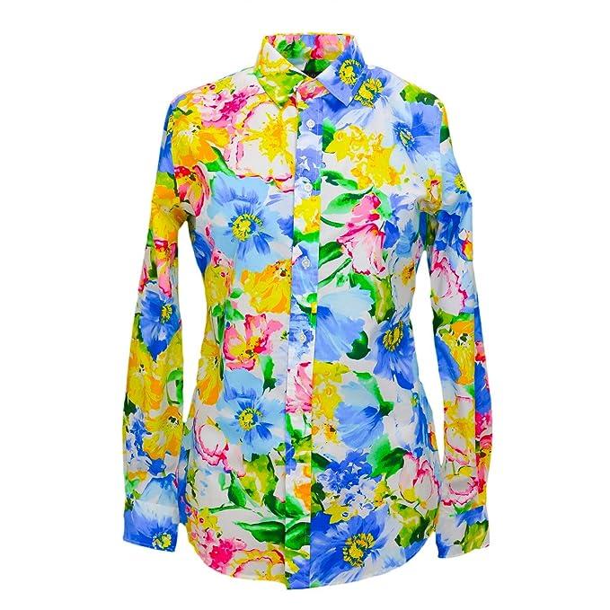 Polo Ralph Lauren Mujer Blusa LS Relaxed Stella Camiseta azul 44 ...