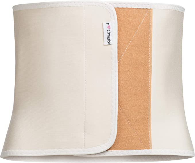 nach Geburt-Schwangerschaft-Kaiserschnitt-OP r/ückbildungsunterst/ützend stufenlos Verstellbarer Klettverschluss Herzmutter Bauchbinde-Bauchband-Bauchg/ürtel 3100