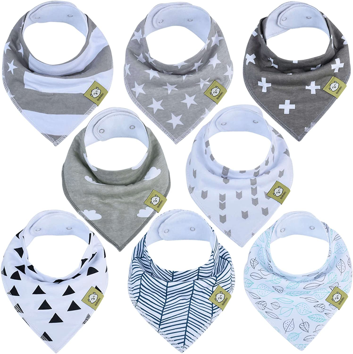 Baby Bandana Dribble Bibs for Boys /& Girls Unisex Feeding Bibs,10 Pack Cotton Super Soft Absorbent 2