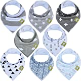 Baby Bandana Drool Bibs - Bandana Bibs for Boys, Girls by KeaBabies- Super Absorbent Bandana Drool Bibs - Teething Bibs…