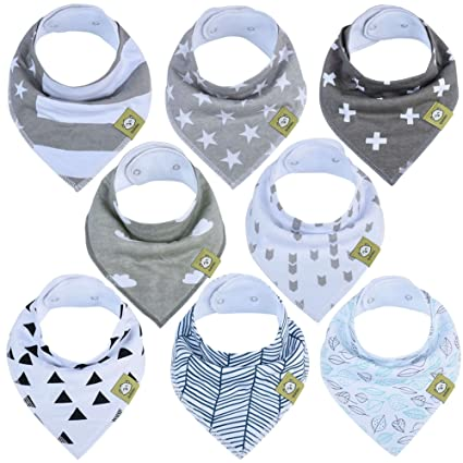 Pack of 3 Baby Boys Dribble Bibs One Size