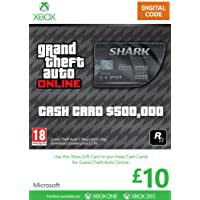 Xbox Live £10 Gift Card: Grand Theft Auto Cash Card [Xbox Live Online Code]