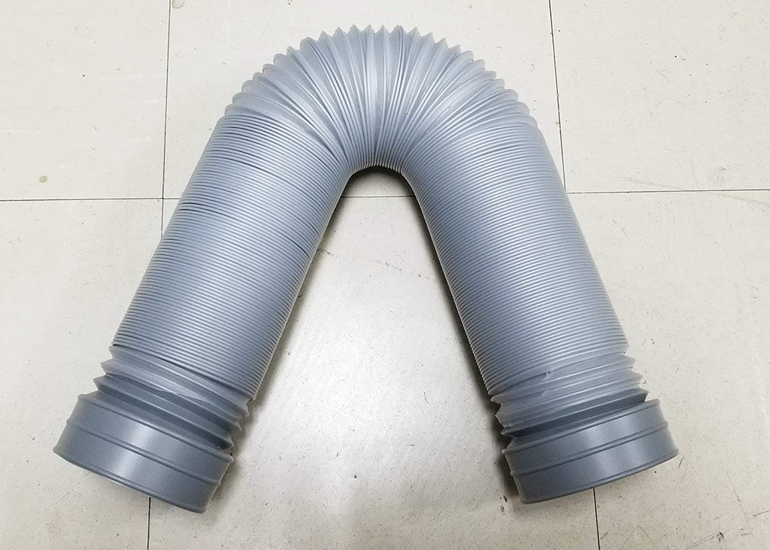 4 Grey 2 Meter Length After Extended Autobahn88 Plastic Retractable Cold Air Intake Duct Pipe Induction Ducting Hose ID 100mm