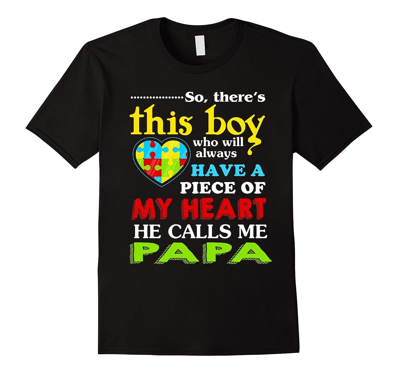 Autism awareness shirts for papa T-shirt-TH