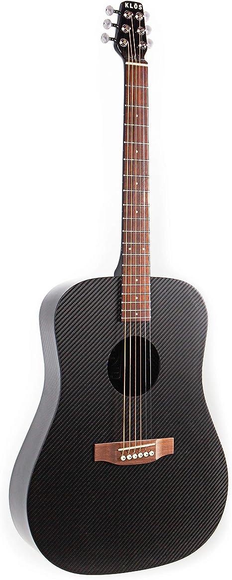 KLOS Guitars Tamaño de fibra de carbono completa Guitarra eléctrica acústica del paquete (Guitarra, Estuche, Correa, Capo, y más): Amazon.es: Instrumentos musicales