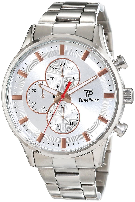 Time Piece Herren-Armbanduhr Analog Quarz Edelstahl TPGA-90971-41M