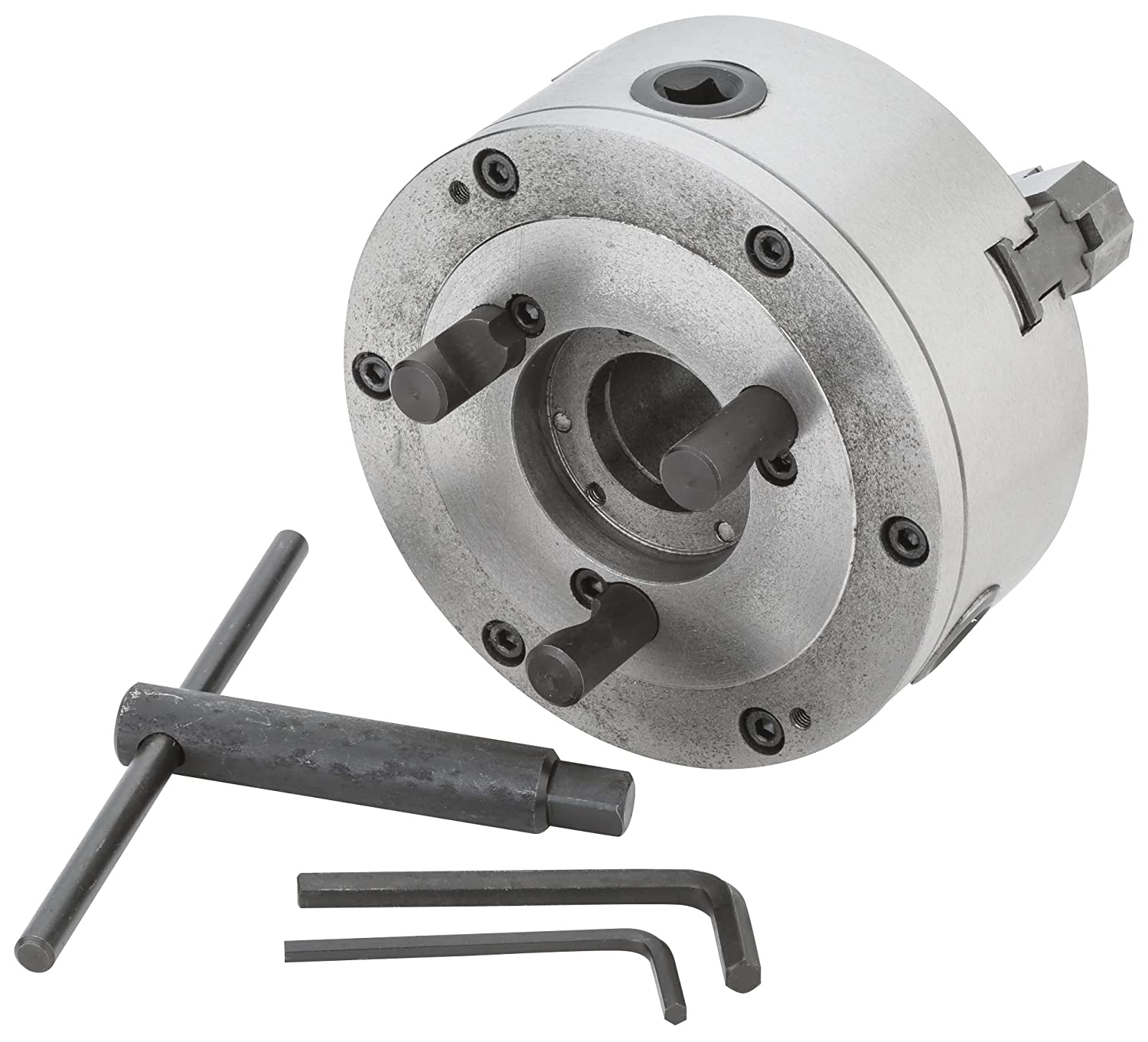Grizzly G9819 6-Inch 3-Jaw Scrol Length Chuck D1-4