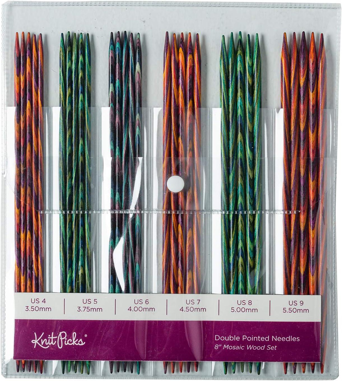 Mosaic 4 Knit Picks Double Pointed Wood Knitting Needle Set