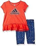 adidas Baby Girls Short Sleeve Tee and Capri
