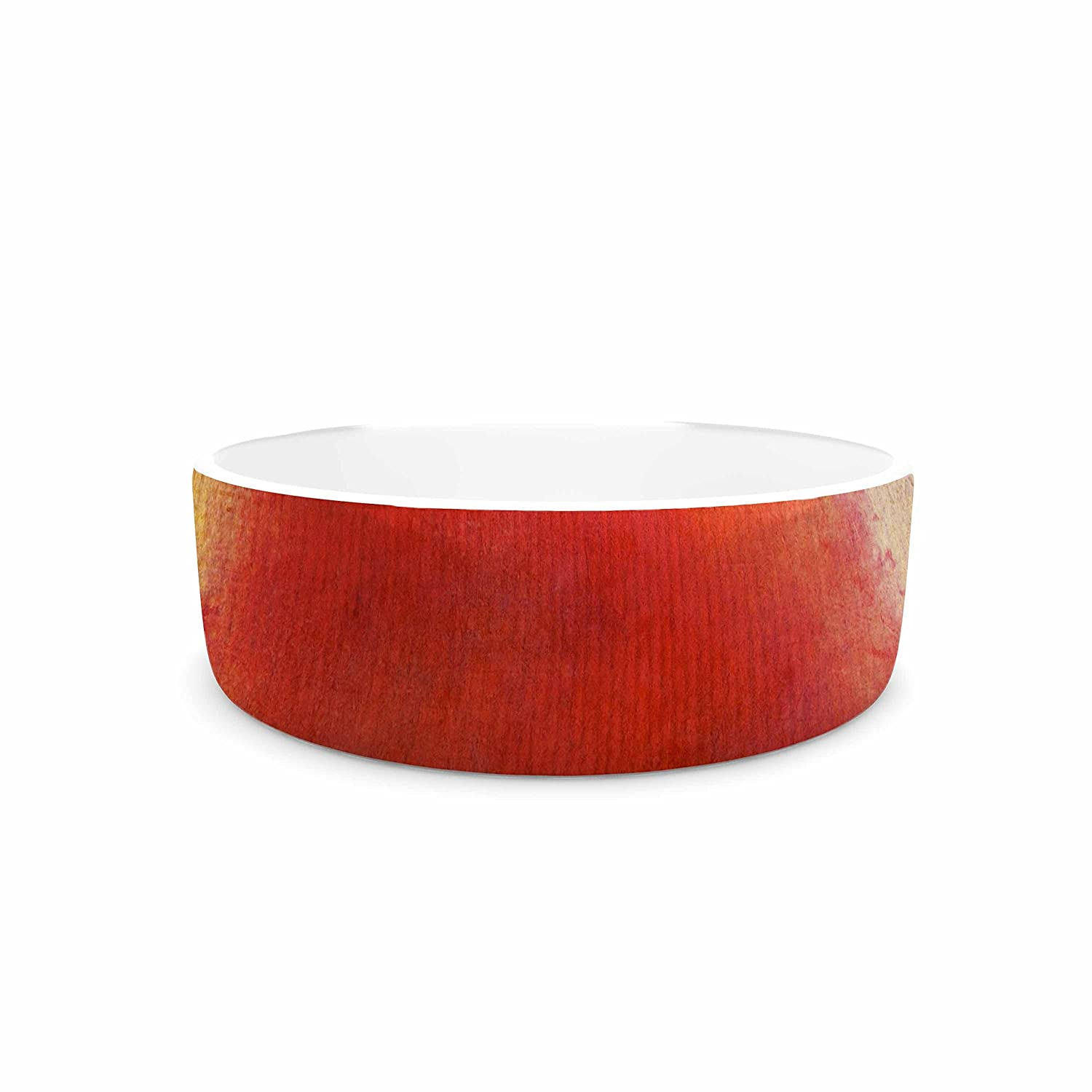 KESS InHouse Viviana Gonzalez Red Tree Yellow Purple Pet Bowl, 7