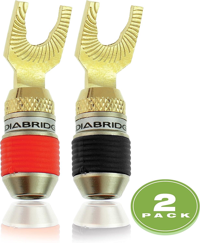 6 Pair Per Package Mediabridge Ultra Series Fast-Lock 45/° Spade Plugs Part# SPC-ST2-6