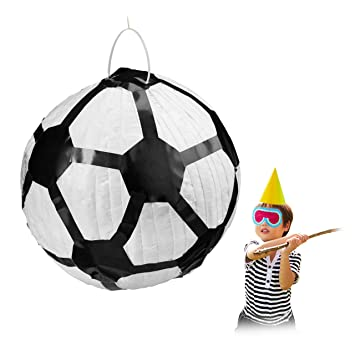 Relaxdays Piñata Fútbol sin Relleno, Juego para Cumpleaños ...