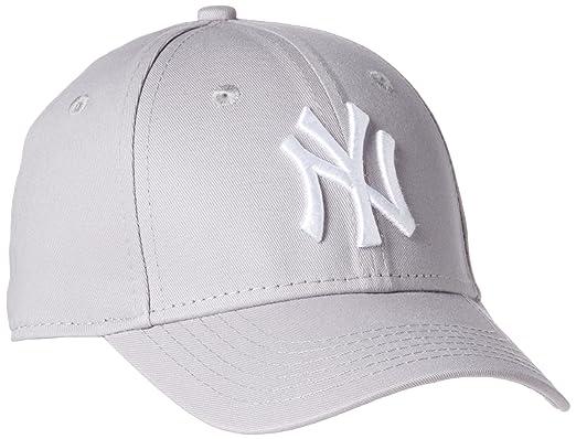 Enfant New York NY Yankees MLB League Basic 9Forty Casquette Ajustée Fit  Gris   Blanc Child 082e458b11ee
