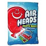 Air Heads (1) Bag Mini Bars Candy Chews - Assorted Flavors - Watermelon, Blue Raspberry, Cherry 3.62 oz