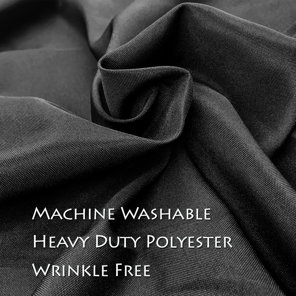 Craft & Party Polyester Table Cloth 120'' Round (Black) by Craft & Party (Image #2)