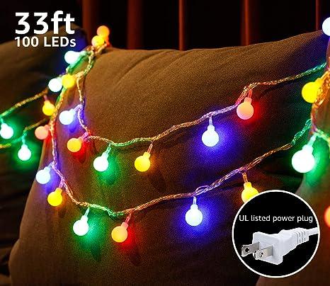 TORCHSTAR 33ft 100 LEDs Globe String Light Kit, 8 Modes Decorative  Lighting, PVC Coated - Amazon.com : TORCHSTAR 33ft 100 LEDs Globe String Light Kit, 8 Modes