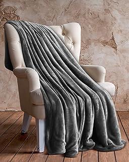 AmazonBasics - Manta de felpa suave - 127 x 152 cm - Gris ...