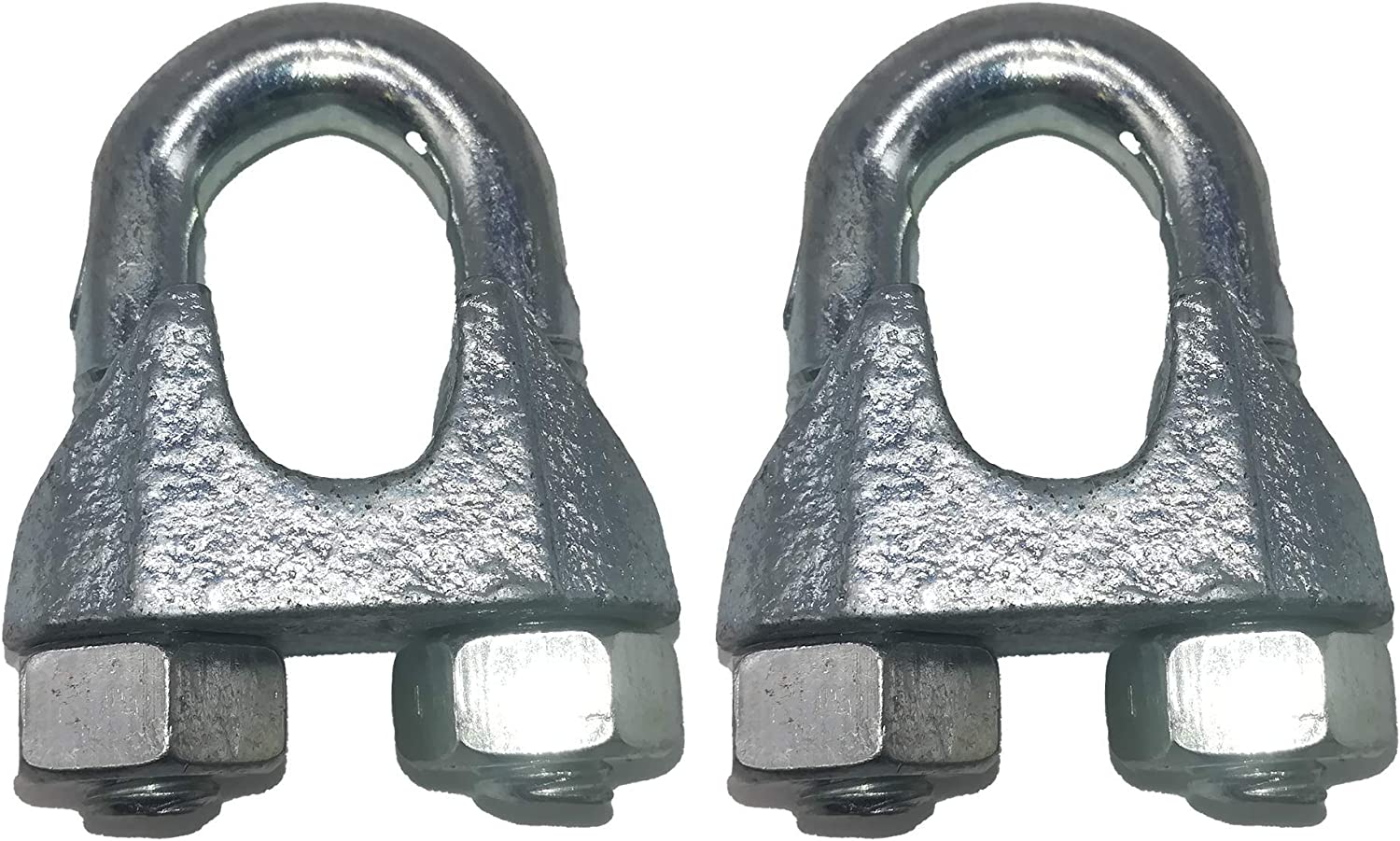 Pack of 2 pcs 2 M12 Stainless Steel 16 mm /Ø DIN 741 Clamps Slings Wire Clamp Cable Clip Crimps U Bolt Saddle Fastener for Steel Wire Rope