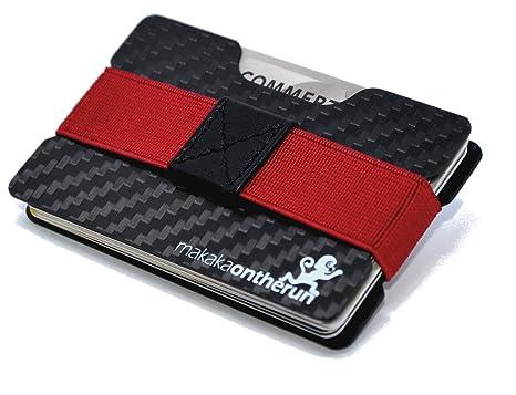 Ultra-Slim Minimalist Card Holder (Real Carbon Fibre). NFC & RFID blocking