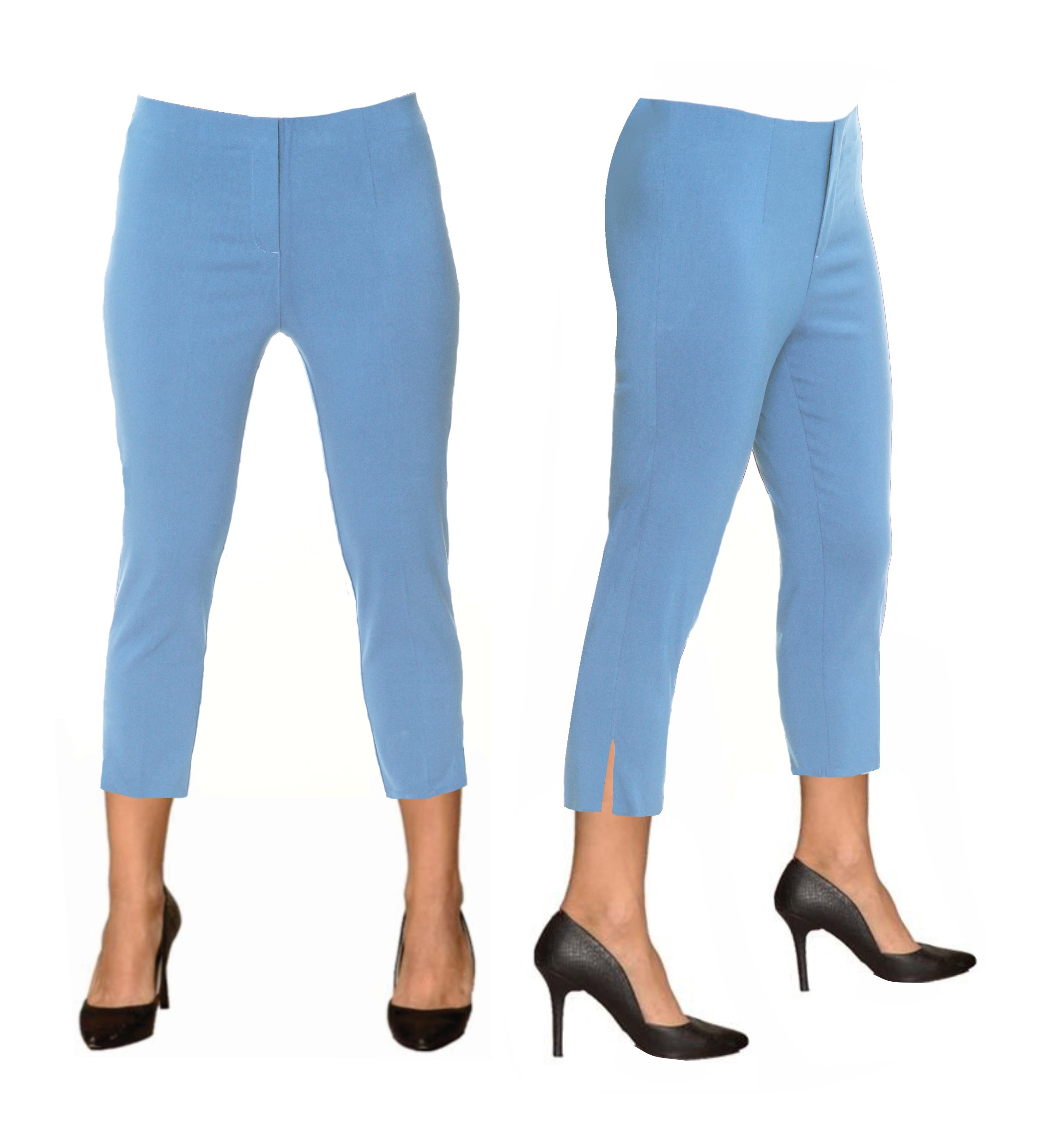 Lior paris Sidney Capri in The Famous Sasha Fit! (10, Chambray)