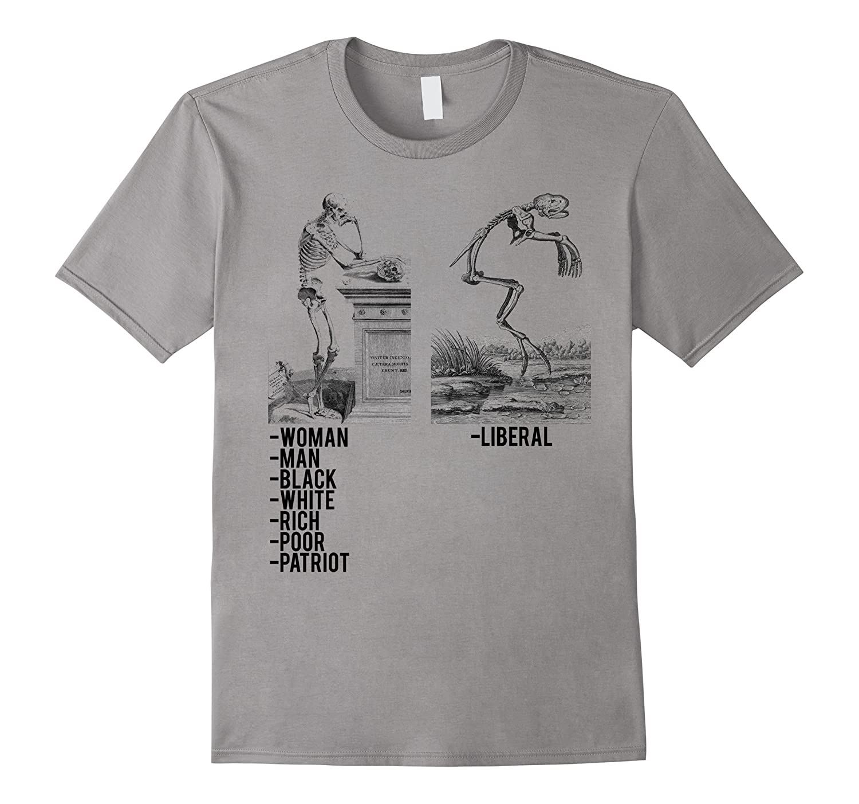 Woman Man Black White Poor Rich Patriot Liberal T-Shirt-CD