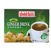 3-pack of Gold Kili Instant Ginger Drink with Honey,6.3oz,180g Each Box, Free Recipe...