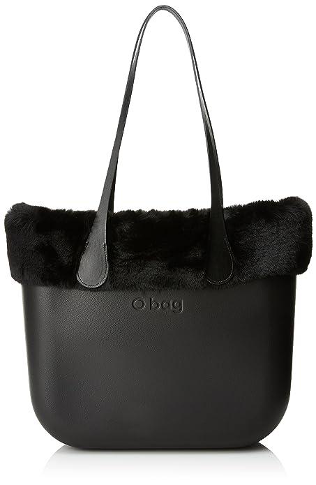 O bag - Evs00_tesa7_fas09_ecs00, Bolsos de mano Mujer, Nero, 39x31x14 cm (W