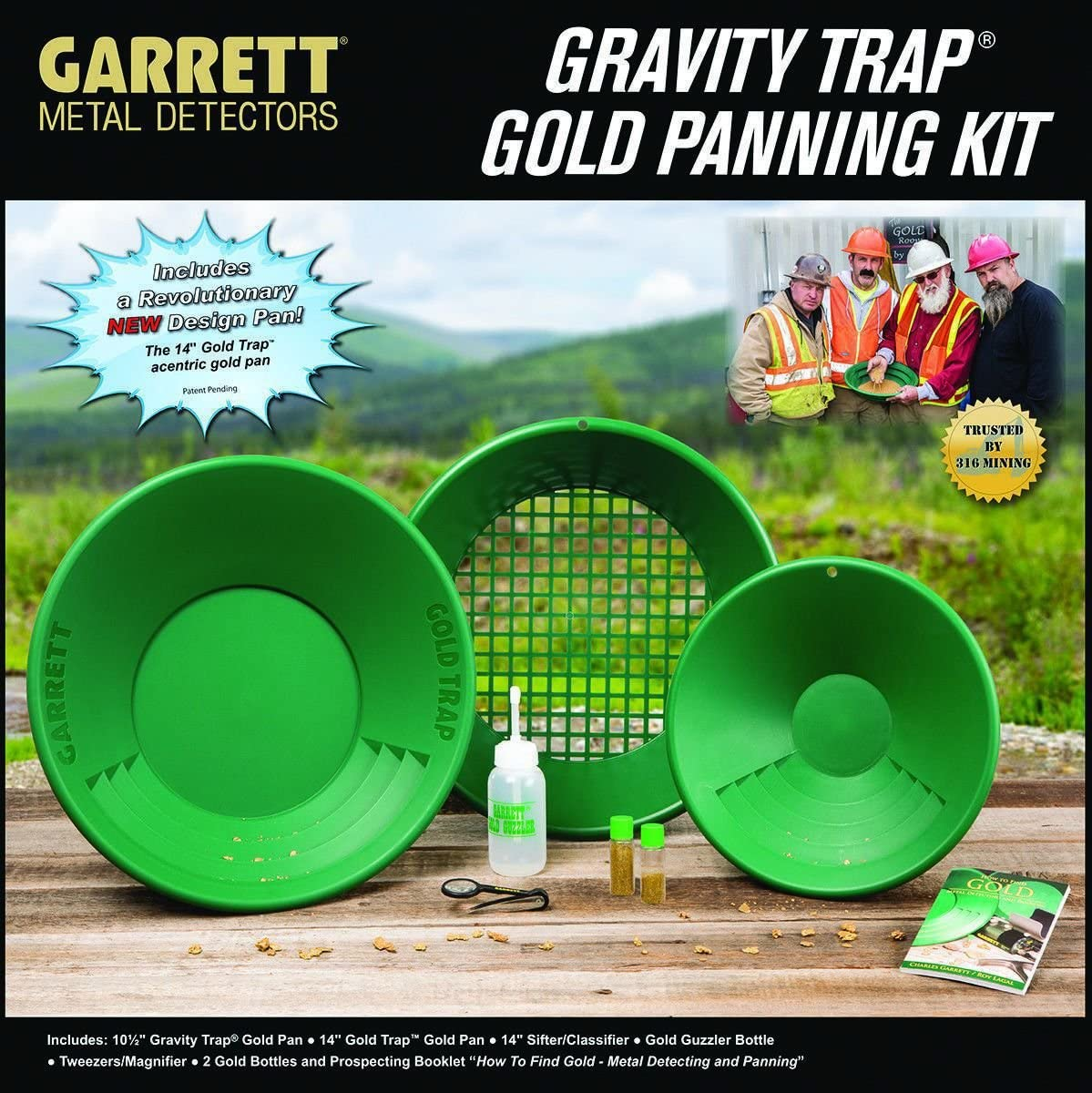 Garret Metal Detectors New Gold Pan Kit, GAR1651310