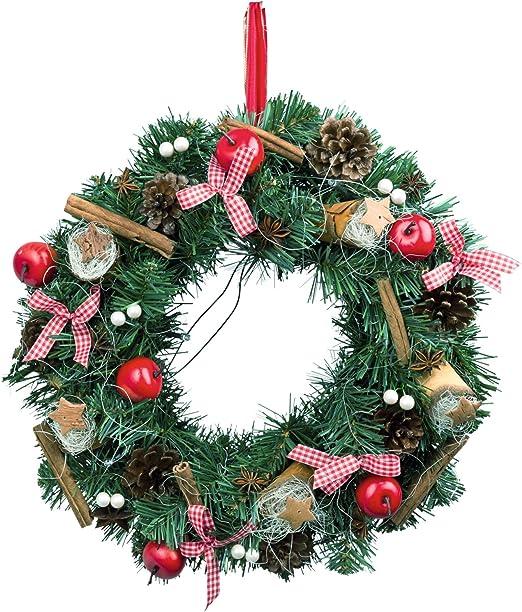 Türkranz Weihnachten LED Weihnachtskranz Kranz Wandkranz