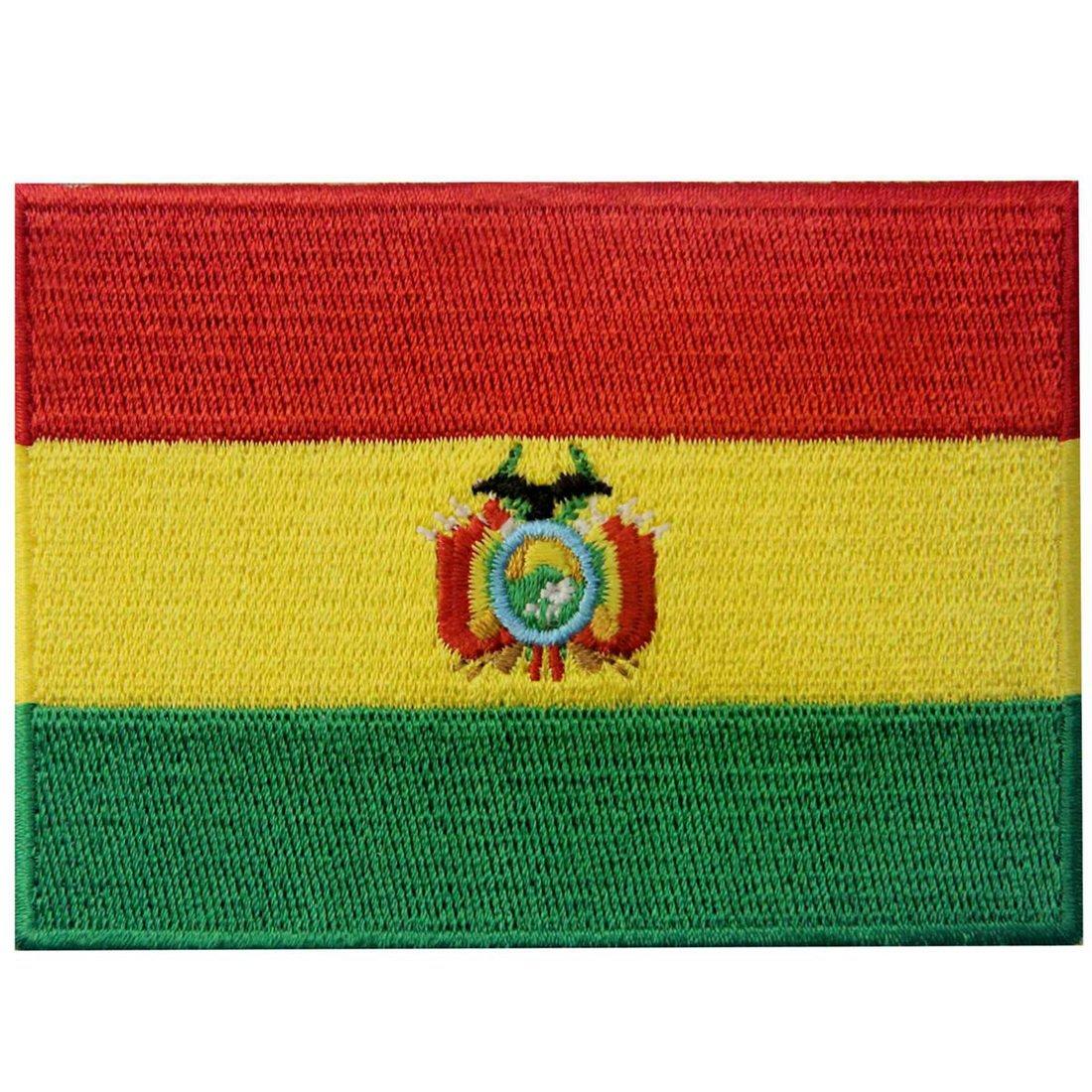 EmbTao Bandiera della Bolivia Termoadesiva Cucibile Ricamata Boliviano Nazionale Toppa