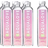 Aqualove Water 9-10pH Multivitamin Alkaline Water, 6 x 1000 ml, Peach and Cucumber