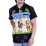Stylore Men's Christmas Hawaiian Shirt Relaxed-Fit Tropical Vacation