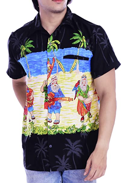 Christmas Hawaiian Shirt Womens.Virgin Crafts Men S Christmas Hawaiian Shirt Holiday Santa Claus Party Casual Beach Shirt