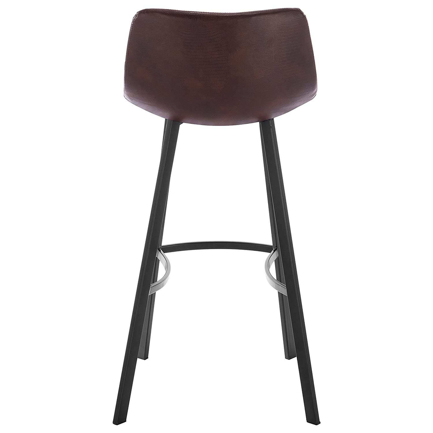 Brown WOLTU Set of 4 Bar Stools with Steel Frame Legs Faux Leather