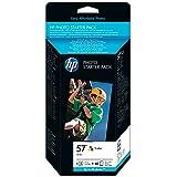 HP Q7942AE - Pack de cartuchos y papel fotográfico (HP serie 57, 60 hojas, 10x15cm)