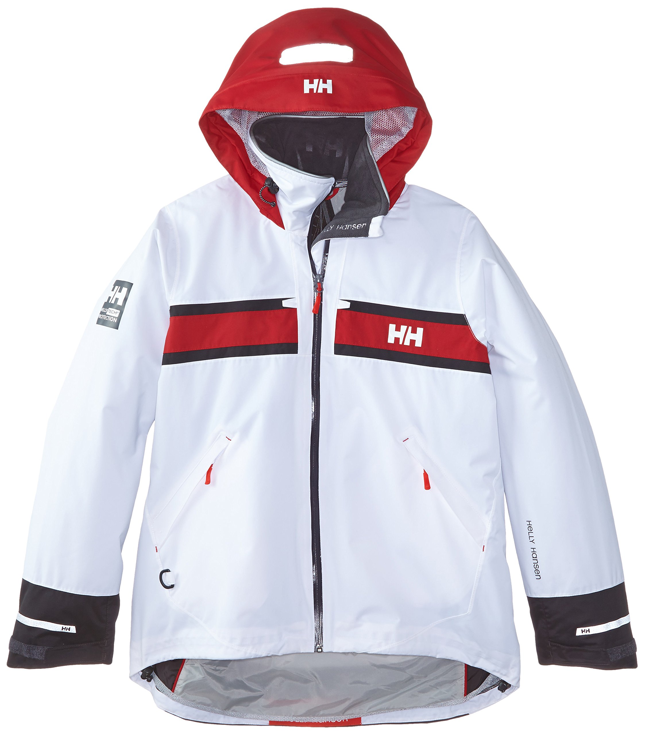 Helly Hansen Women's Salt Rain and Sailing Jacket, White, Medium