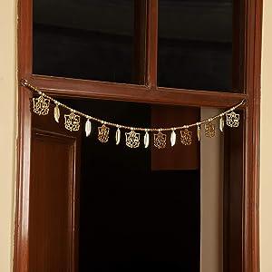 TIED RIBBONS Door Hanging Bandanwar Toran (91.4 cm X 17.5 cm) - Home Decoration Item for Door Wall Décor